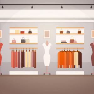 Lojas de roupas modernas com containers